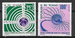 TCHAD.   1963.   Y&T N°86 / 87 **.    Télécommunications Spatiales. - Tschad (1960-...)