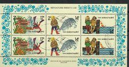 NUOVA ZELANDA 1980 - HEALTH STAMPS - PESCI - FOGLIETTO USATO - Hojas Bloque