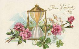 Art Card . Sablier Et Fleur . Hourglass - Tarjetas De Fantasía