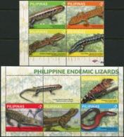 PHILIPPINES 2011 Endemic Lizards Reptiles Animals Fauna MNH - Reptiles & Amphibians