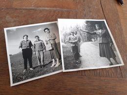 FRAU IN DEUTSCHLAND DAZUMAL - MUTTER MIT ERTWACHSENER TOCHTER UND SOHN - SPATZ - WOERISHOFEN - KOHLGRUB - 1957 - Lieux