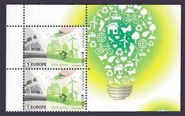 Belgique Paire Verticale Illustrée Europa 2016 ** Think Green  Velo Bicycle Cdf - Europa-CEPT