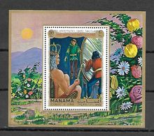 Manama 1972 Andersen's Fairy Tales MS MNH - Fairy Tales, Popular Stories & Legends