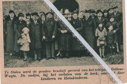 OOLEN..1938.. GOUD BIJ DE ECHTELINGEN BELLENS - WUYTS - Vieux Papiers
