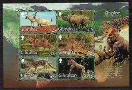 GIBRALTAR 2012 ENDANGERED ANIMALS BLOCK MNH - Gibraltar