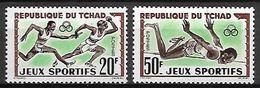 TCHAD   -  1962 .  Y&T N°80 / 81 **.   Course De Relais  /  Saut En Hauteur. - Tschad (1960-...)