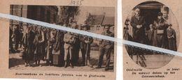 OOSTMALLE..1935.. IN FEEST DE NIEUWE DEKEN OP HET GEMEENTEHUIS - Vieux Papiers