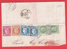 N°53 38 57 60 PAIRE QUADRICOLOR SALONIQUE BFE GC 5095 GRECE TURQUIE CAD SUR PAIRE N°53 - Marcophilie (Lettres)