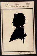 Souvenir De L'Exposition De Gand 1913 - Silhouettes Willy - Silhouette Femme - Silhouettisme - Ombromanie -  2 Scans - Siluette