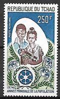 TCHAD  -   Aéro.  Y&T N° 151 **.   Année Mondiale De La Population / Couple Avec Bébé. - Tschad (1960-...)