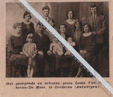 OORDEREN..1932.. SCHOON GEZIN BIJ DE FAMILIE LOUIS VAN KOEKHOVEN - DE MOOR - Vieux Papiers