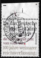 2019  100 Jahre Weimarer Reichsverfassung - [7] République Fédérale
