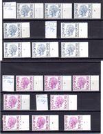 Belgique 1975, Baudoin Type Elström, 1747 PH-1747 P-1748 PH-1748 P** N° Planche Complet - 1971-1980