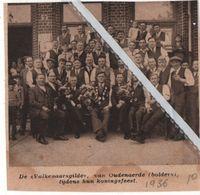 """OUDENAERDE..1936.. DE """"VALKENAARSGILDE """" TIJDENS HUN KRONINGSFEEST - Vieux Papiers"""