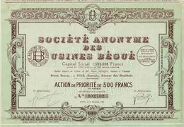 Société Anonyme Des Usines Bégué - Industrial