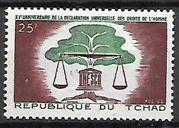 TC H A  D   -    1963.    Y&T N° 93**.    Droits De L'  Homme - Tschad (1960-...)