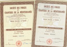 2 X Societe Des Forges Et Chantiers De La Mediterranée - Navegación