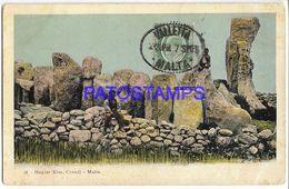 137522 MALTA CRENDI HAGIAR KIM SPOTTED POSTAL POSTCARD - Malta
