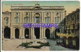137524 MALTA PUBLIC LIBRARY POSTAL POSTCARD - Malta