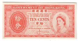 Hong Kong 10 Cents 1961 UNC .J2. - Hongkong