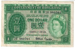 Hong Kong 1 Dollar 01/07/1956 .J2. - Hongkong