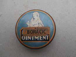 Boîte -Boracic Ointment - Old Metal Box - Medizinische Und Zahnmedizinische Geräte