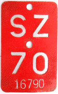 Velonummer Schwyz SZ 70 - Plaques D'immatriculation