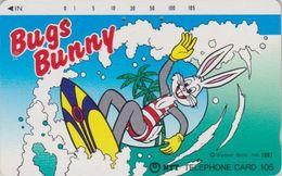JAPAN Phonecard / NTT 230-093 TBE -  BD COMICS - BUGS BUNNY Sport Surf - Animal LAPIN RABBIT - TC Ancienne JAPON - BD