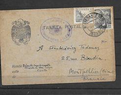Espagne 1942 Camp Concentration MIRANDA DE EBRO - PASSAGE DE FRANCE EN ESPAGNE-TEXTE LE TYPE ETAIT UN ESCROC - Marcophilie (Lettres)