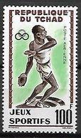 TCHAD   -    Aéro   -   Y&T N° 8 **.   Jeux Sportifs D'Abidjan.   Lancement Du Disque. - Tschad (1960-...)