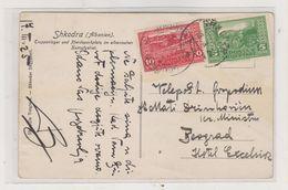 ALBANIA 1925 SHKODRA Nice Postcard To Yugoslavia - Albanien