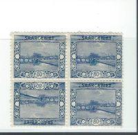 Timbre SARRE N°61 A   Bloc De 4 Tète Bèche - 1920-35 Sociedad De Naciones