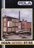 Catalogue POLA 1997/98 Spur N 1/160  HO 1/87 Gebäudemodelle  - En Allemand Et Anglais - Libros Y Revistas