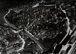 ! Backnang, Bahnhof, Eisenbahn, Luftbild, Moderner Abzug, Nr.1899, Format 18 X 13 Cm - Backnang