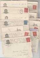Lot 20 Lettres Du Cercle De Vincennes Seine 1928  29 à Institutrice Masnau Massuguies Tarn + Capdenac Description - Marcofilia (sobres)