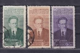 Russia, USSR 1950 Michel 1515-1517 Kalinin Used - 1923-1991 UdSSR