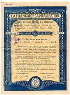 Epargne Et Prévoyance : LA FRANCAISE CAPITALISATION, Timbres Cotisations, Papier Timbré à 8 F 75. - Vieux Papiers