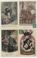 Lot De 25 Cartes Fantaisie Homme - Cartes Postales