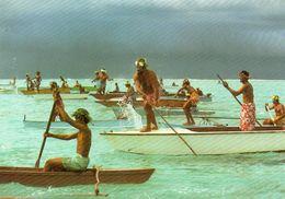 BORA BORA   Peche Aux Cailloux     Voir Timbre Au Dos - Polynésie Française