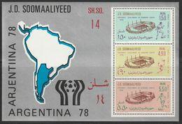 "SOMALIE - BLOC N°5 ** (1978) Coupe Du Monde De Football ""Argentina 78"" - Somalia (1960-...)"