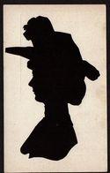 Silhouette Femme - Silhouettisme - Ombromanie -  Silhouette Découpée - 2 Scans - Siluette
