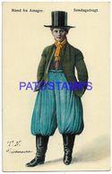 137552 DENMARK DANMARK AMAGER COSTUMES MAN SUNDAY CLOTHING POSTAL POSTCARD - Danemark
