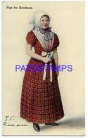 137553 DENMARK DANMARK BORNHOLM COSTUMES WOMAN POSTAL POSTCARD - Danemark