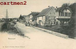 BONCOURT UNE RUE ANIMEE JURA SUISSE ENARD ET BOECHAT EDITEURS DELEMONT 1900 - JU Jura