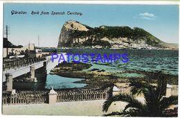 137556 GIBRALTAR ROCK FROM SPANISH TERRITORY POSTAL POSTCARD - Gibraltar