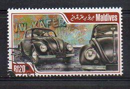 MALDIVES. 2014. CARS. VW KÄFER. CANCELLED (6R1766) - Autos