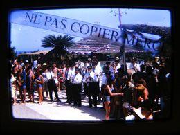 DIAPOSITIVE 1963 Cefalu Club Med Méditerranée Italie Sicile Fanfare Animation DIAPO PHOTO SLIDE 1/10 - Diapositives