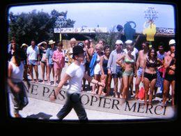 DIAPOSITIVE 1963 Cefalu Club Med Méditerranée Italie Sicile Femme Homme Maillot De Bain DIAPO PHOTO SLIDE 4/10 - Diapositives