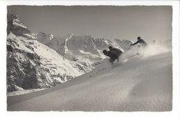 25571 - Im Skigelände Bei Mürren Skieurs Photo Gyger Adelboden - Wintersport