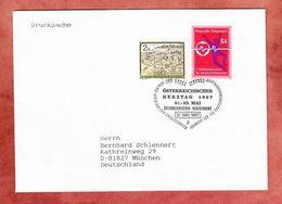 Drucksache, Weltsymposium Herzschrittmacher U.a., SoSt Gross Gerungs Herztag, Nach Muenchen 1997 (95745) - 1991-00 Storia Postale